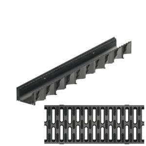 Aco SELF Hexaline 1m-es folyóka fekete műanyag ráccsal