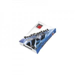 Baumit ProfiContact (Baumit ProContact) Cementbázisú, emelt minőségű por alakú ragasztó Baumit Pro valamint egyéb polisztirol (EPS) és ásványi homlokzati lemezek ragasztásához és tapaszolásához valamint üvegszövet beágyazásához. Tapaszként is alkalmas betonfelületre.