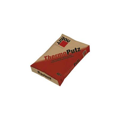 Baumit ThermoPutz (Thermo vakolat) Gyárilag kevert, duzzasztott perlitet tartalmazó, hőszigetelő alapvakolat ásványi, előfröcskölt alapfelületekre kézi bedolgozással, külső és belső felhasználásra.